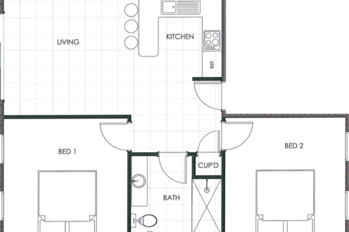 Hunter Valley Accommodation - Ironbark Villa 4 - Pokolbin - Floor Plan