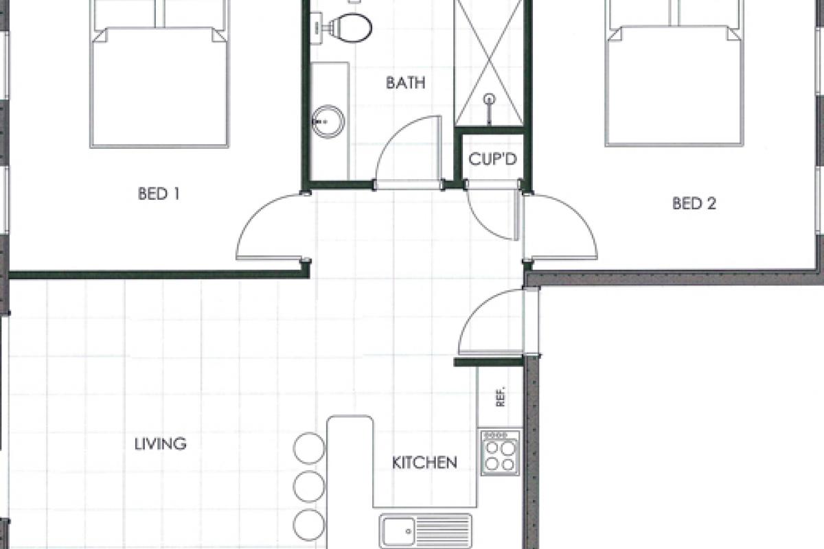 Hunter Valley Accommodation - Ironbark Villa 5 - Pokolbin - Floor Plan