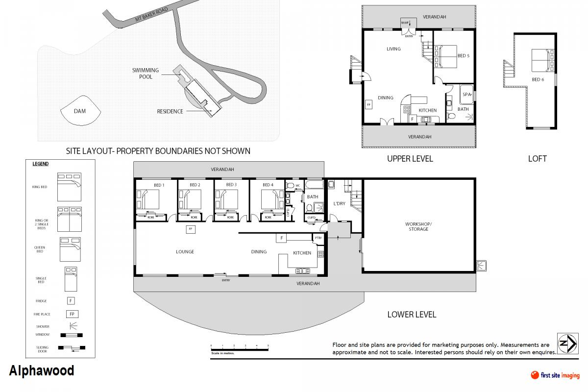 Hunter Valley Accommodation - Alphawood - Mount View - Floor Plan