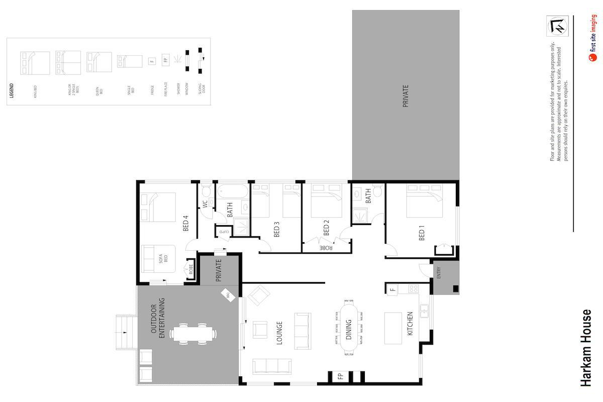 Hunter Valley Accommodation - Harkham House - Pokolbin - Floor Plan