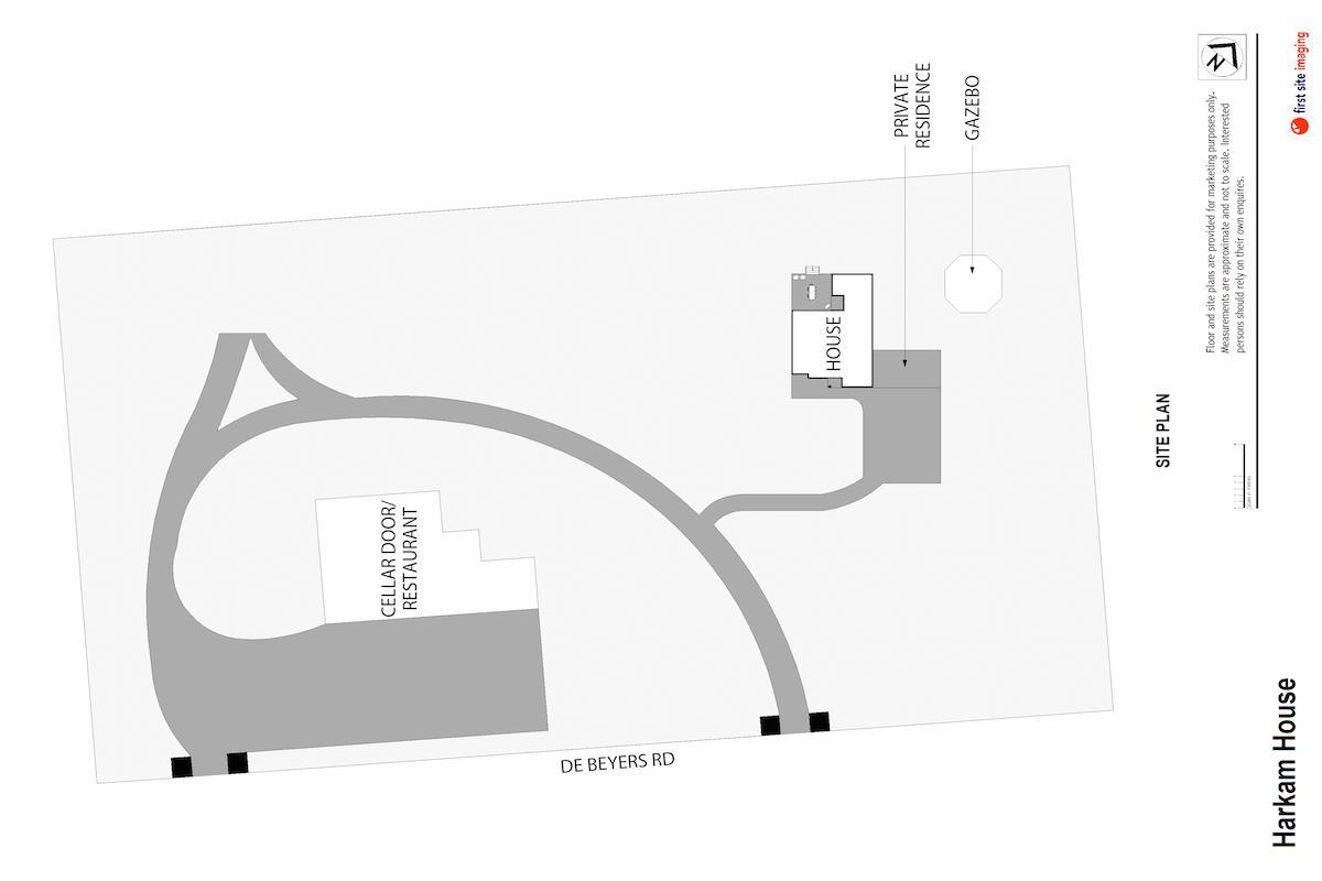 Hunter Valley Accommodation - Harkham House - Pokolbin - Floor Plan