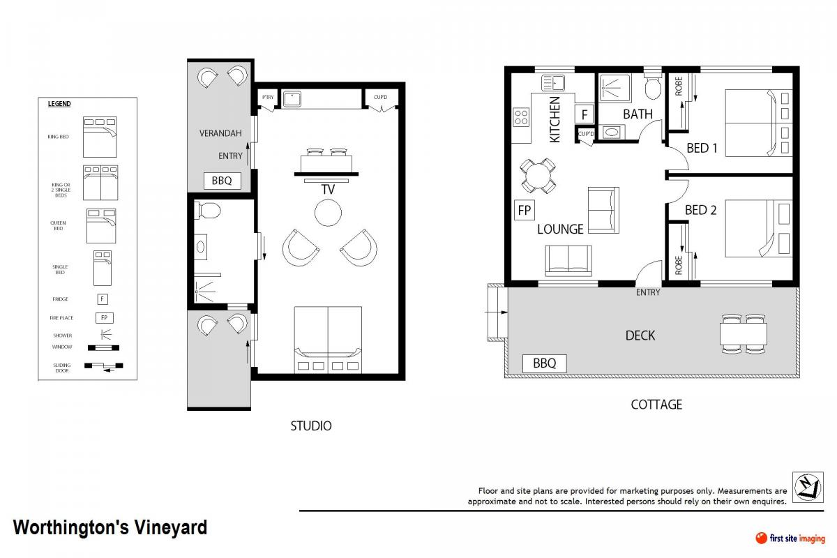 Hunter Valley Accommodation - Worthington's Guest Cottage Pokolbin - Floor Plan