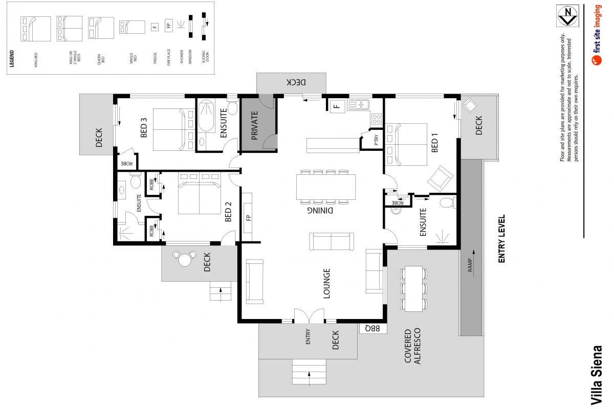 Hunter Valley Accommodation - Villa Siena - Pokolbin - Floor Plan