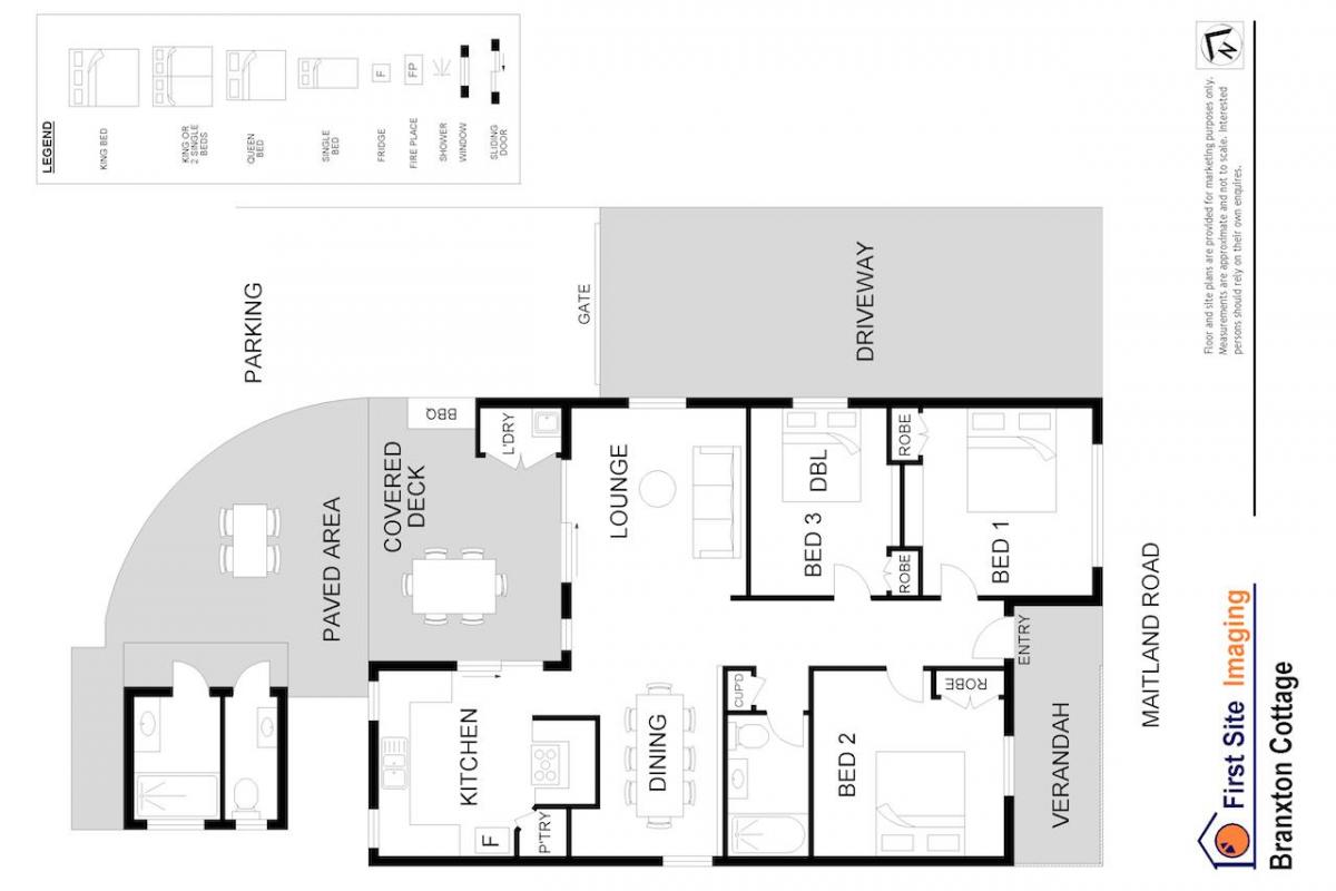 Hunter Valley Accommodation - Hunter Cottage - Branxton - Floor Plan