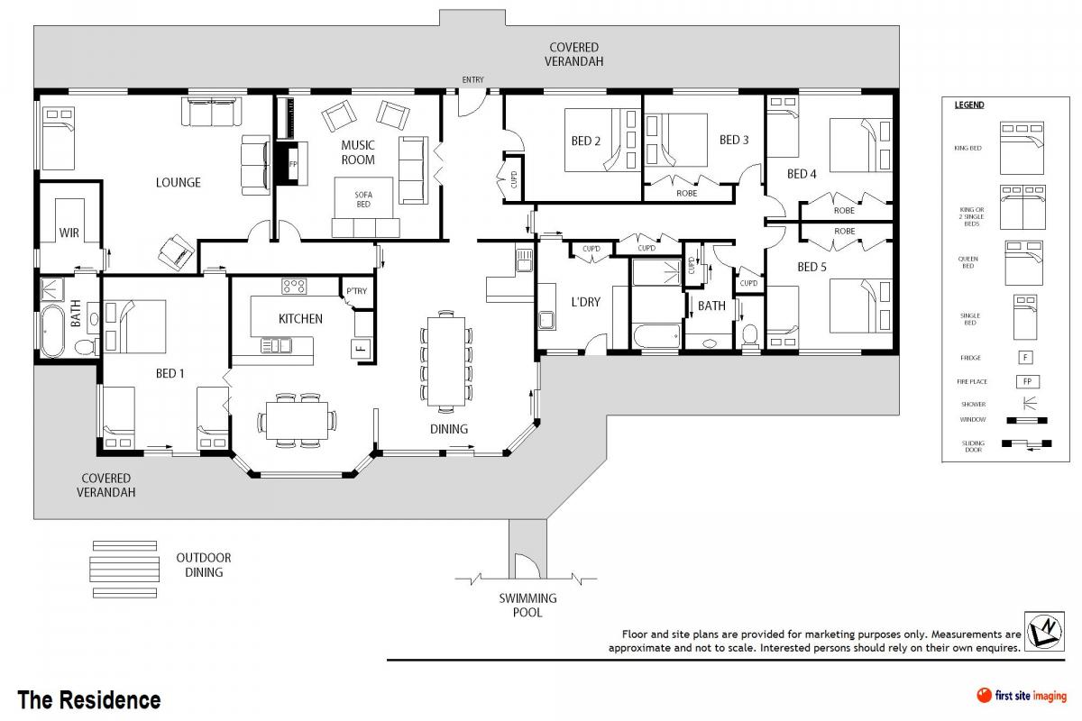 Hunter Valley Accommodation - Windsors Edge Estate - Pokolbin - Floor Plan