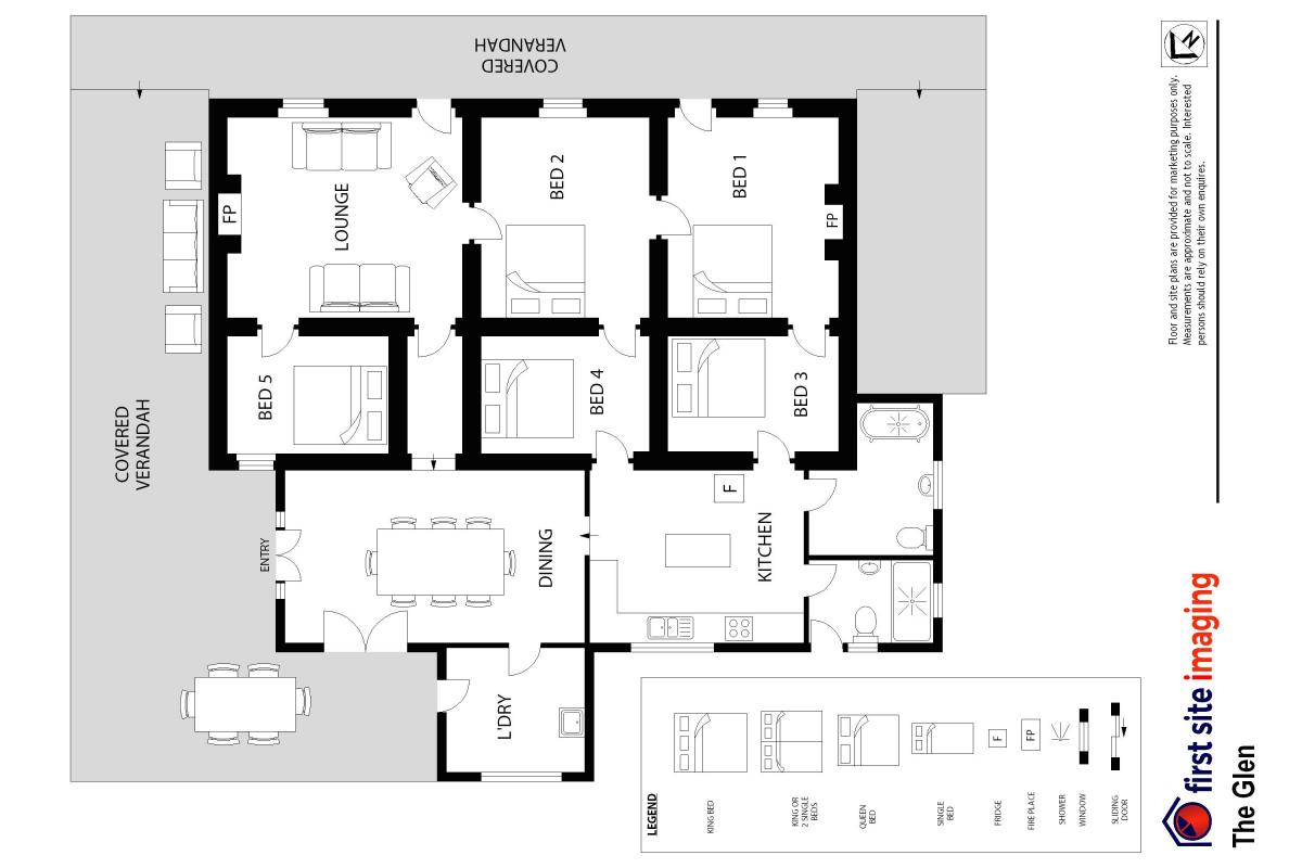 Hunter Valley Accommodation - The Glen - Wollombi - Floor Plan