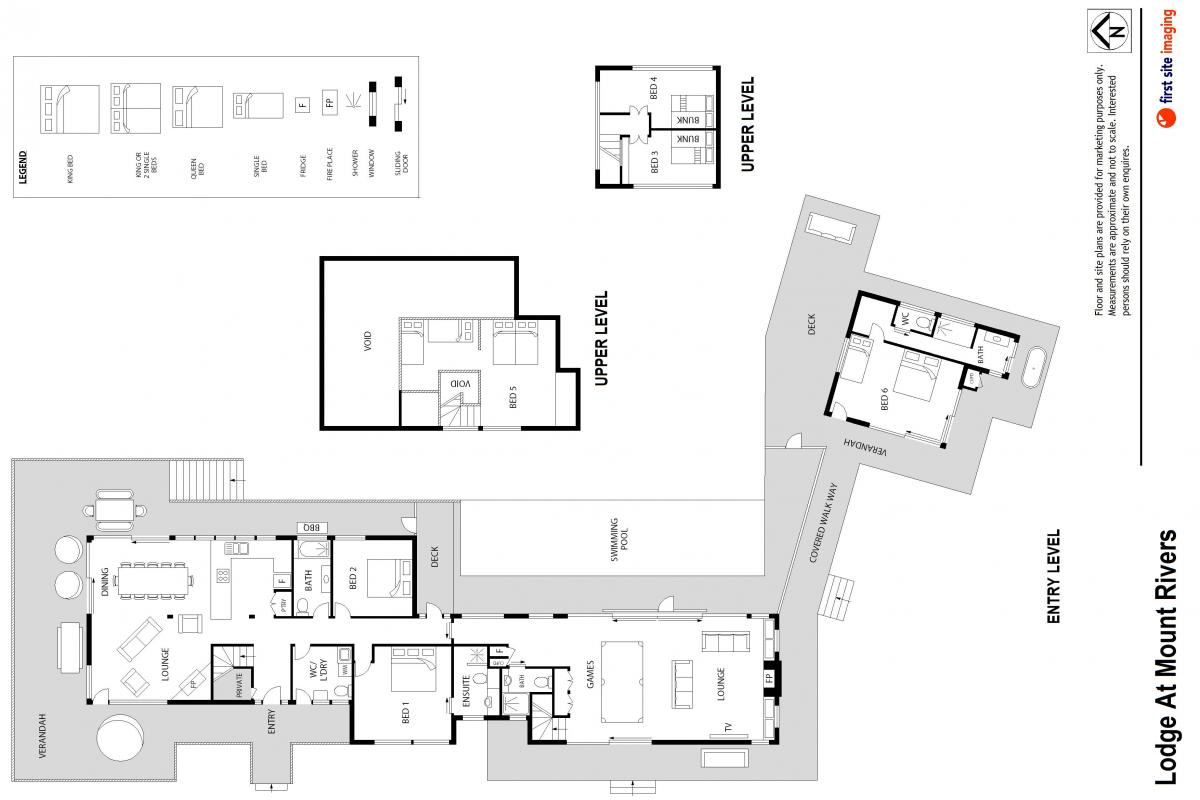 Hunter Valley Accommodation - Lodge at Mount Rivers - Gresford - Floor Plan