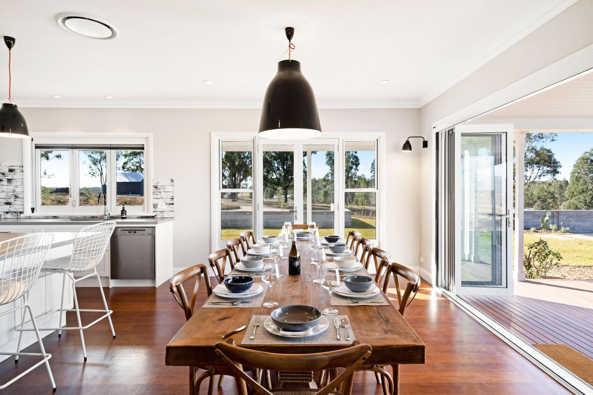 Hunter Valley Accommodation - Jindalee Estate- Pokolbin - Dining