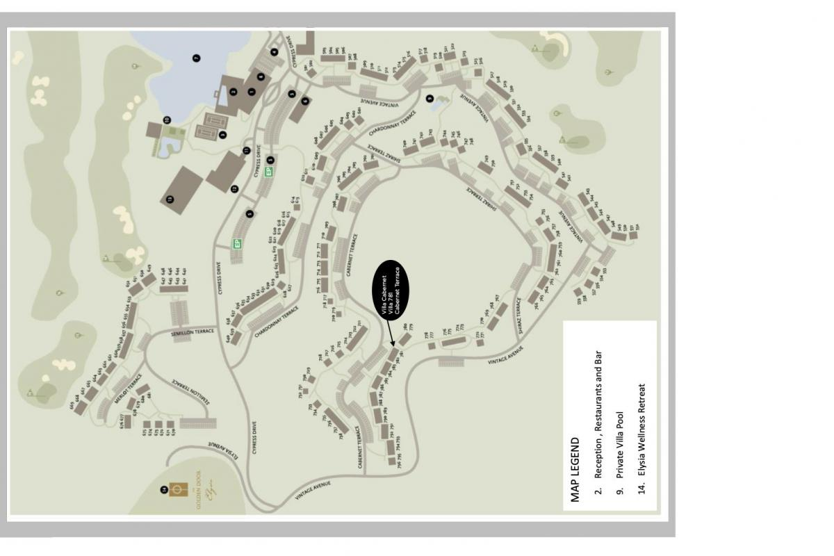 Hunter Valley Accommodation - Villa Cabernet - Pokolbin - Floor Plan