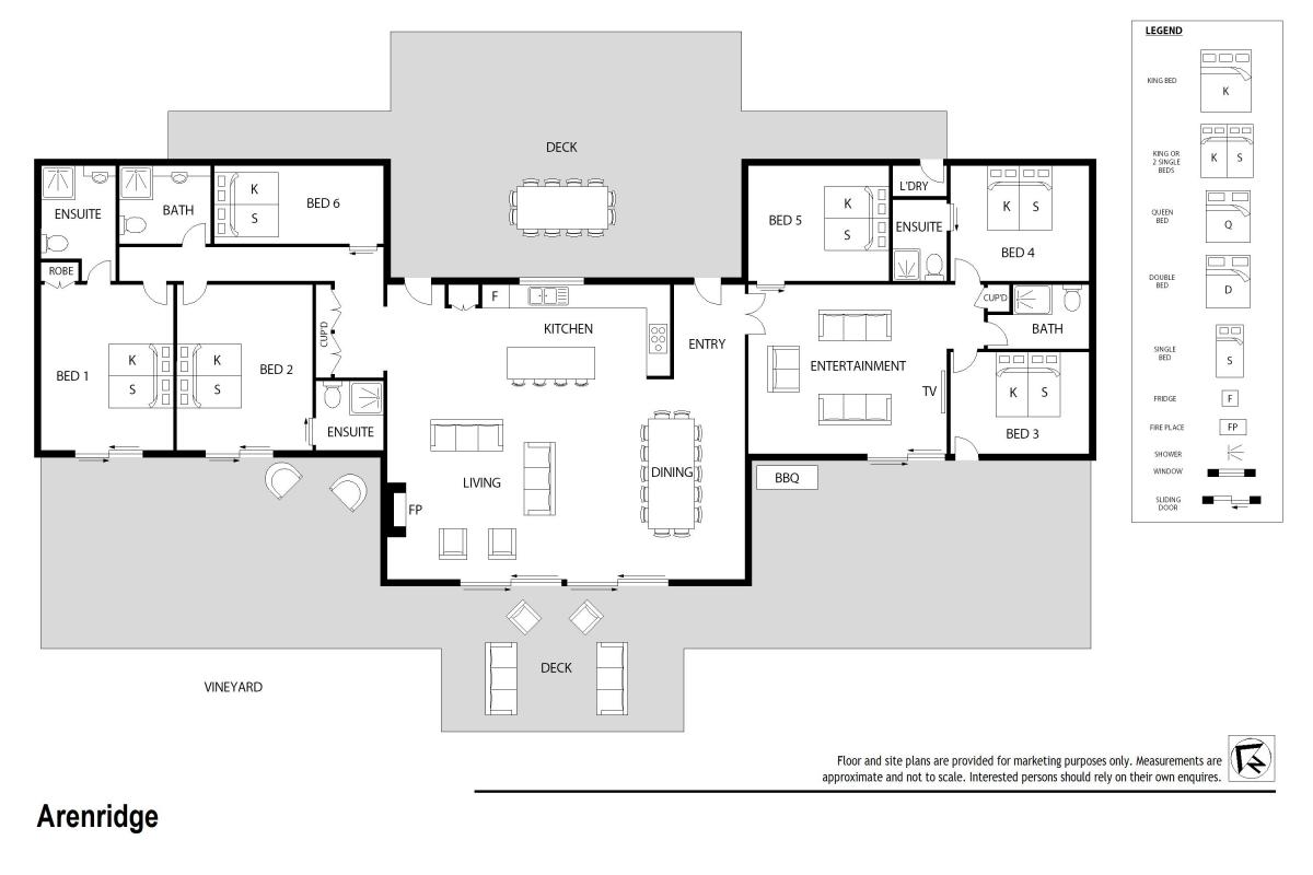 Hunter Valley Accommodation - Arenridge - Broke - Floor Plan
