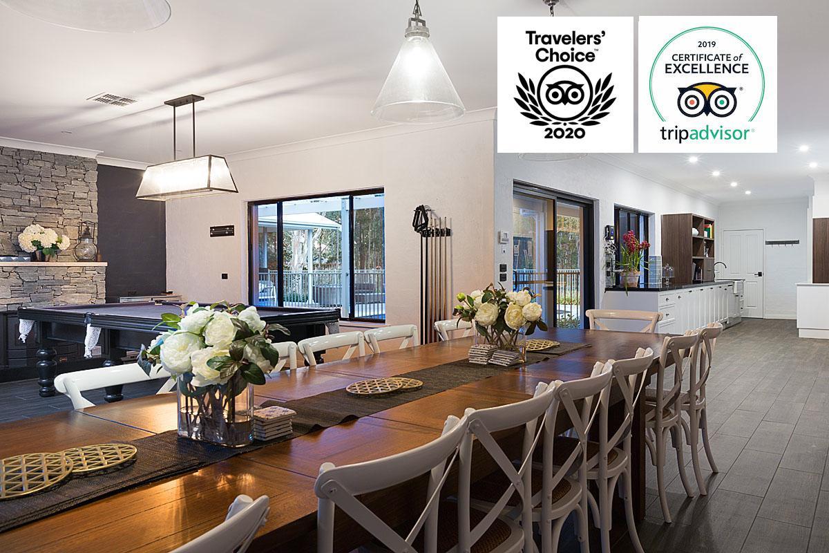 Hunter Valley Accommodation - Whitevale Estate - Lovedale - Dining