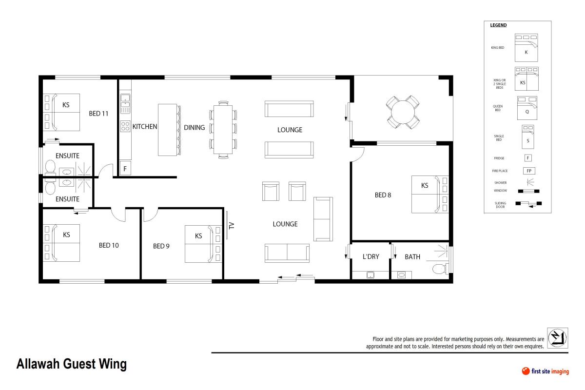 Hunter Valley Accommodation - Allawah Estate 11 Bedrooms - Lovedale Hunter Valley - Floor Plan