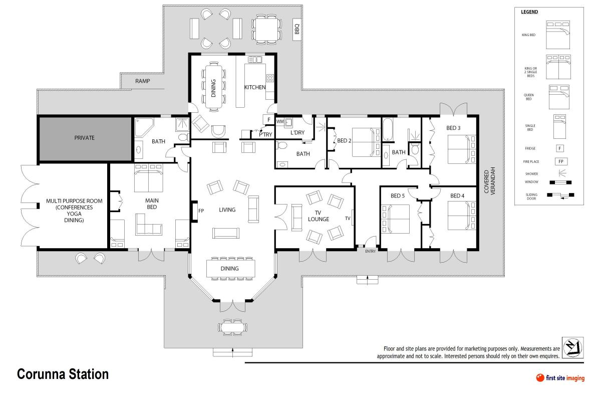 Hunter Valley Accommodation - Corunna Station Country House - Pokolbin - Floor Plan