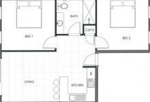 Hunter Valley Accommodation - Ironbark Villa 2 - Pokolbin - Floor Plan