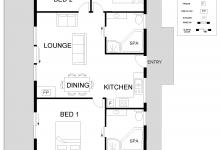 Hunter Valley Accommodation - North Lodge Clan Cottage - Pokolbin - Floor Plan