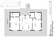 Hunter Valley Accommodation - North Lodge Estate Cottages - Pokolbin - Floor Plan