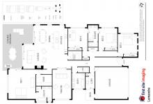Hunter Valley Accommodation - Lomandra Retreat - Pokolbin - Floor Plan