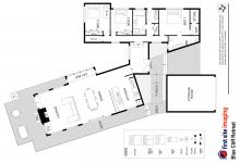 Hunter Valley Accommodation - Blue Cliff Retreat - Pokolbin - Floor Plan