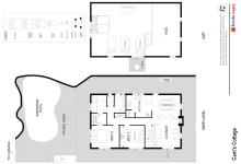 Hunter Valley Accommodation - Cants Cottage - Broke - Floor Plan