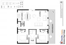 Hunter Valley Accommodation - Windsors Edge Rothbury Cottage - Pokolbin - Floor Plan