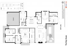 Hunter Valley Accommodation - The Grey House - Pokolbin - Floor Plan