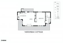 Hunter Valley Accommodation - Jindalee Estate Yarrimbah Cottage - Floor Plan