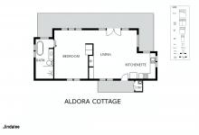 Hunter Valley Accommodation - Jindalee Estate Aldora Cottage - Floor Plan
