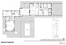 Hunter Valley Accommodation - Gabriel's Paddocks - Pokolbin Hunter Valley - Floor Plan