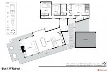 Hunter Valley Accommodation - Blue Cliff Retreat - Pokolbin - Floor Plan
