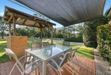 Hunter Valley Accommodation - Peppertree Cottage at The Grange - Rothbury - Outdoor Entertaining Area